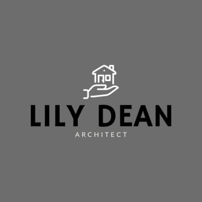 Architect Logo Design Template with a House Clipart 264a-el