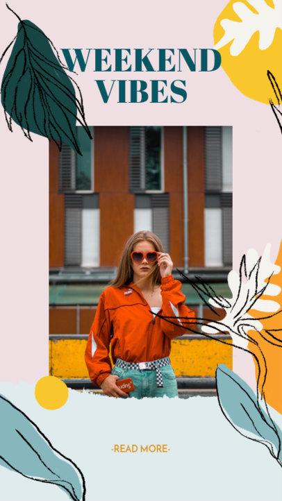 Instagram Story Generator Featuring Hand-Drawn Frame Illustrations 2050b