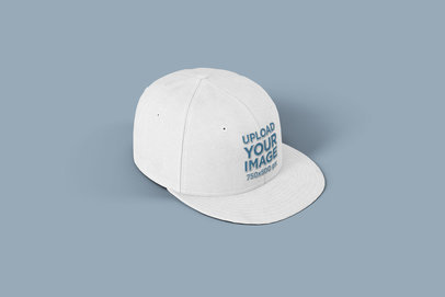 Mockup of a Customizable Snapback Hat on a Flat Surface 1487-el1