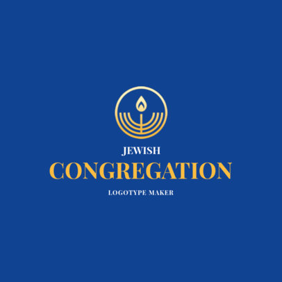 Logo Template for a Jewish Congregation 2784