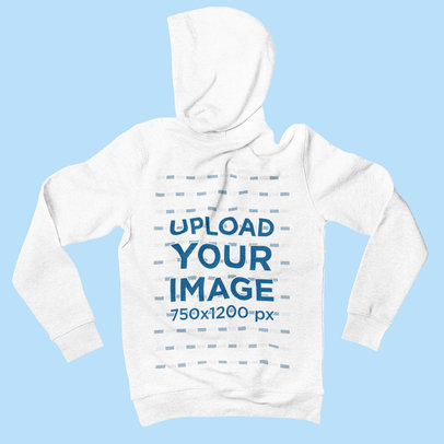 Mockup of a Heather Hoodie Displayed on a Solid Color Surface 2009-el