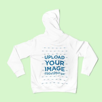 Back View Mockup of a Hoodie Placed on a Solid Surface 2023-el1