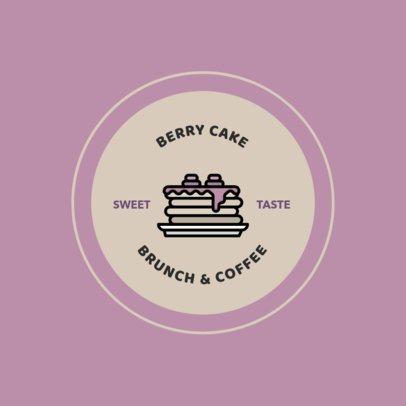 Brunch Logo Maker Featuring a Pancakes Icon 366b-el