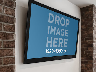 Led Monitor On A Wall