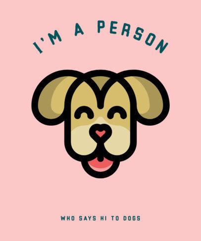 T-Shirt Design Template for Proud Pet Owners 326-el