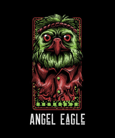 T-Shirt Design Maker with a Street-Art Style Eagle Cartoon 44g-el