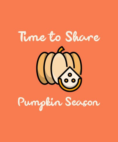 Fall T-Shirt Design Maker Featuring a Pumpkin Clipart 304a-el
