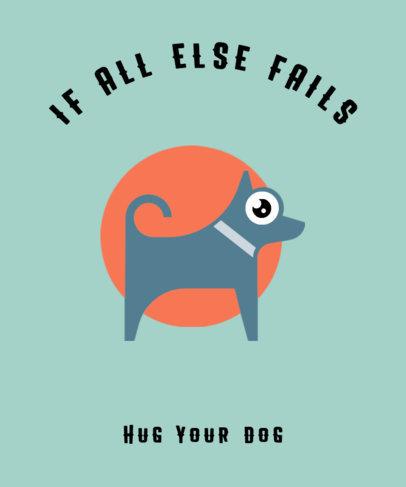 T-Shirt Design Maker Featuring a Funny Dog Illustration 326a-el