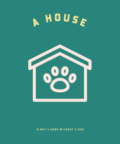 Pets T-Shirt Design Maker Featuring a Dog's House Graphic