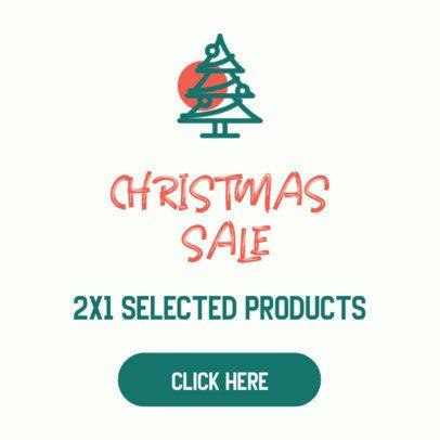 Online Banner Maker for a Christmas Sale 307a-el