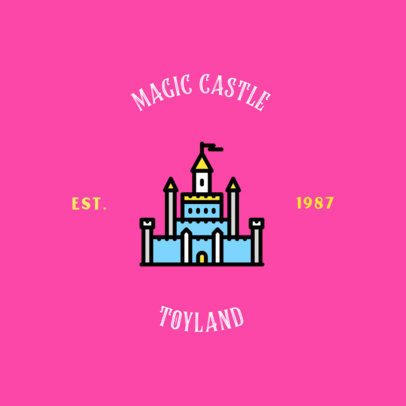 Toy House Logo Maker with a Castle Graphic 318d-el