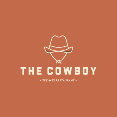 Tex-Mex Restaurant Logo Maker with a Cowboy Hat Icon 283c-el