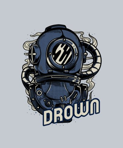 T-Shirt Design Maker with a Steampunk-Inspired Diver Graphic 3i-el