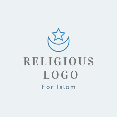Online Logo Maker with the Star and Crescent Symbol 2783i