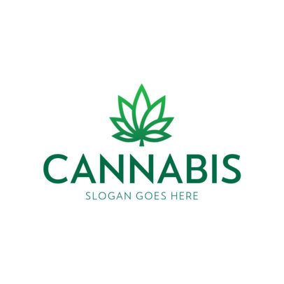 Cannabis Logo Maker with Simple Marijuana Icons 393-el1