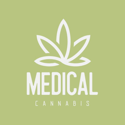 Logo Maker with a Minimalistic Marijuana Clipart 393b-el1