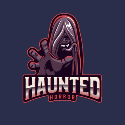 Horror-Gaming Logo Template with a Haunted Creature Graphic 2786i