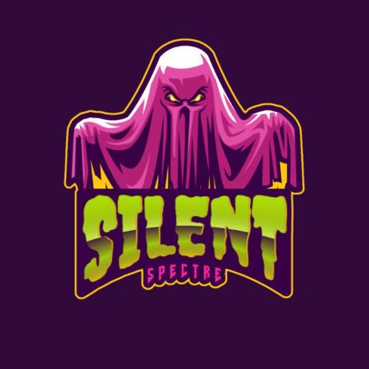 Horror-Genre Logo Template Featuring an Evil Ghost Graphic 2786l