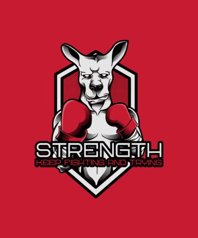 T-Shirt Design Maker with a Boxing Kangaroo Illustration 38c-el1