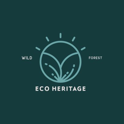 Wildlife Reserve Logo Template with a Nature Icon 385-el1