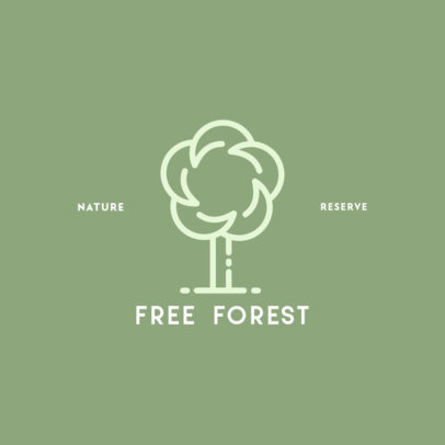 Nature Reserve Logo Design Maker with a Tree Graphic 385a-el1