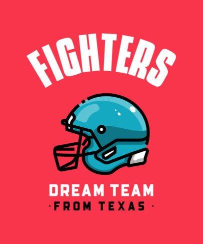T-Shirt Design Template for a Football Team 313b-el1