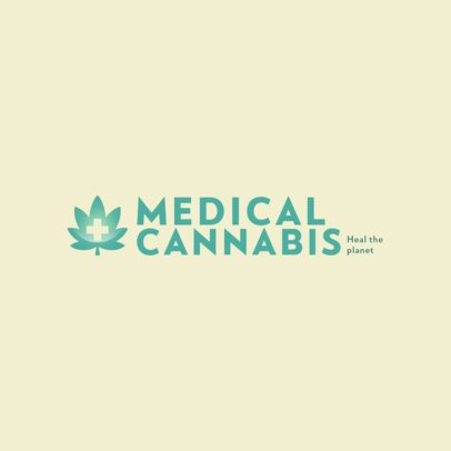 Simple Cannabis Logo Maker 386-el1