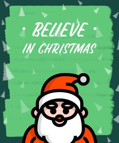 Christmas T-Shirt Design Maker with a Santa Character 310b-el1