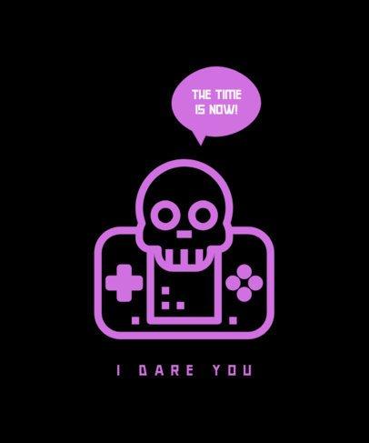 T-Shirt Design Creator Featuring a Joypad and a Skull 475b-el1