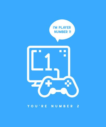 Gaming T-Shirt Design Template Featuring a Video-Game Controller 475c-el1