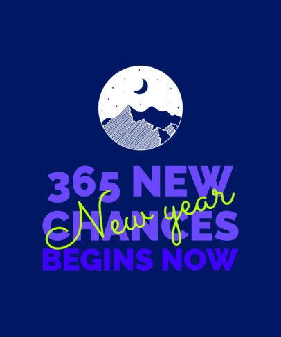 Quote T-Shirt Design Creator with a New Year's Message 2112l