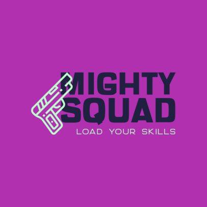 Minimalist Logo Maker for a Gaming Squad 415b-el1