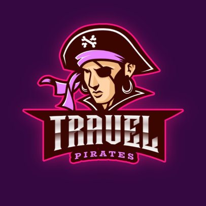 Online Logo Maker for Gamers Featuring a Pirate 2811e