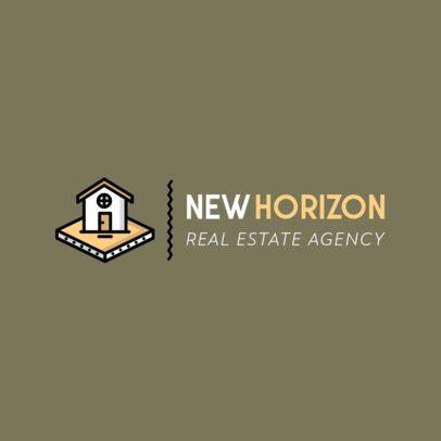 Real Estate Logo Creator with a House Icon 485a-el1