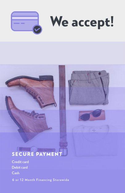 Online Flyer Maker with Credit Card Icons 297-el1