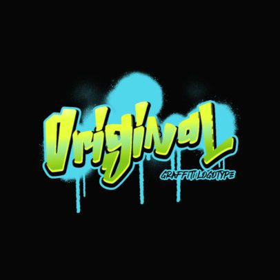 Streetwear Clothing Brand Logo Template with Graffiti Fonts 2804h