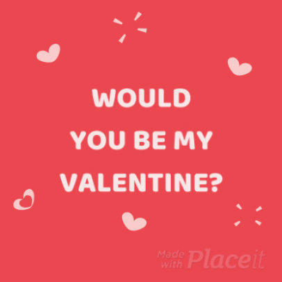 Instagram Video Maker with a Cute Valentine's day Animation 2026