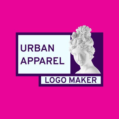 Simple Logo Maker for a Clothing Brand with a Greek Sculpture Graphic 2806c