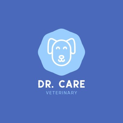 Logo Template for a Veterinary Featuring a Pet Graphic 329b-el1