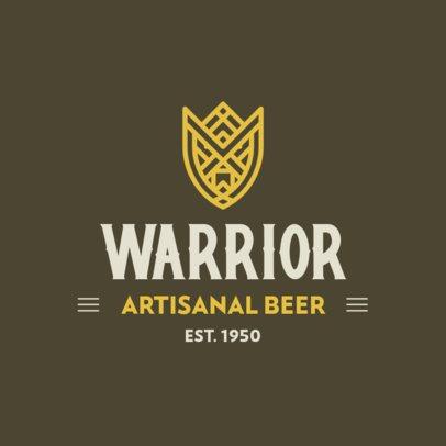Beer Logo Maker with Medieval Warrior Emblems 331-el1