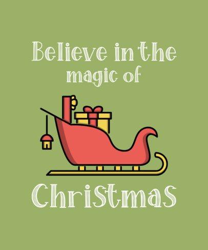 Christmas T-Shirt Design Maker with the Illustration of Santa's Sleigh 319c-el1