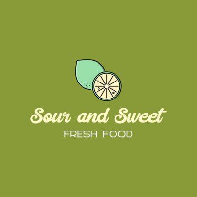 Fresh Food Logo Maker Featuring an Illustrated Lemon 489c-el1