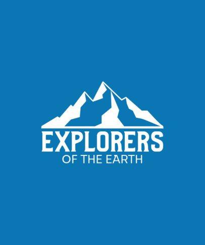 T-Shirt Design Template for a Daring Explorer 201a-el1