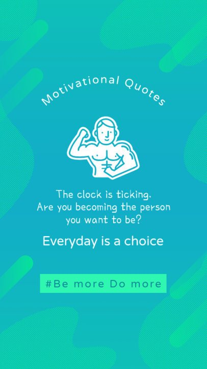 Fitness Instagram Story Generator Featuring a Motivational Quote 2082a