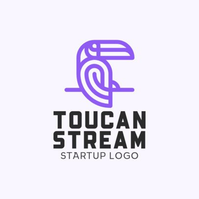 Logo Generator for Startups Featuring a Toucan Silhouette 330b-el1