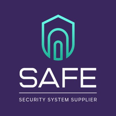 Security System Supplies Logo Maker with a Shield Clipart 453a-el1