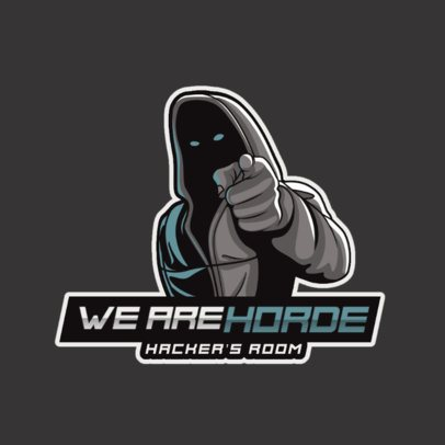Gaming Logo Maker with a Dark Hacker Illustration 2815h