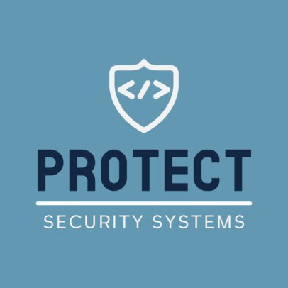 Logo Template for a Security Systems Company and a Shield Graphic 453b-el1