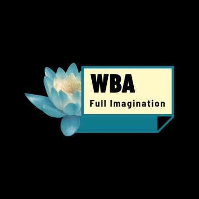 Logo Maker with a Lotus Flower Picture and Bold Letters 2805f