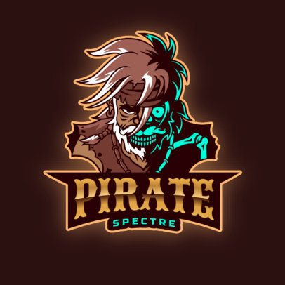 Pirate Logo Template with a Sinister Zombie Graphic 2811n